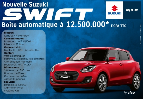 Nouvelle SUZUKI SWIFT